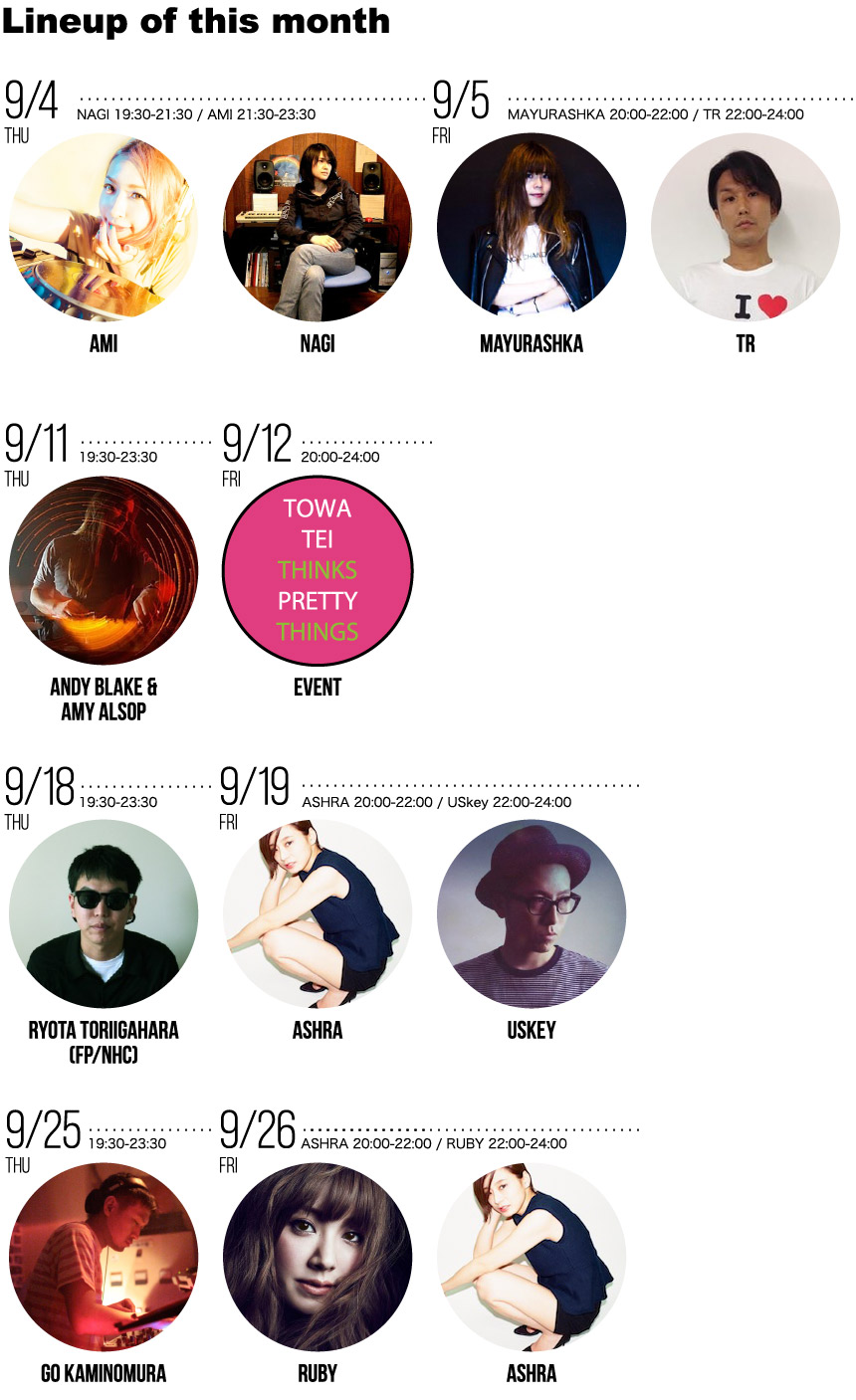 HOUSE MUSIC SELECTOR'S 2014年9月